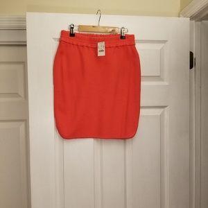 J Crew Orange/Red Skirt in 00